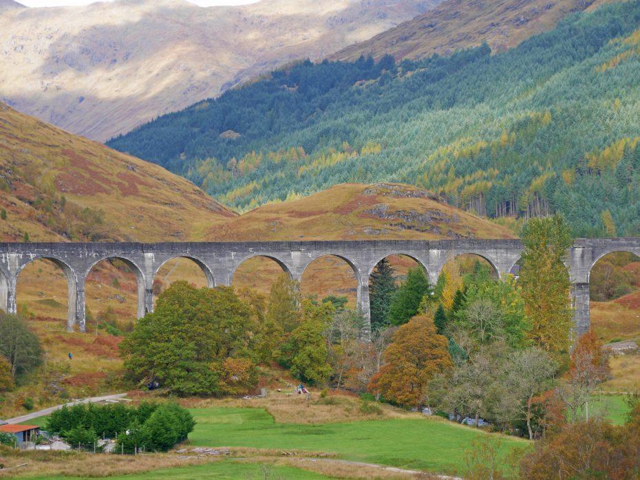 Uitzicht op het viaduct