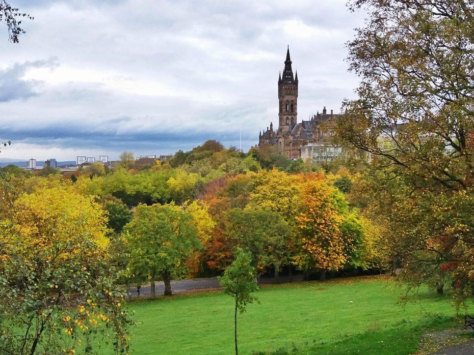 Herfstkleuren in het park