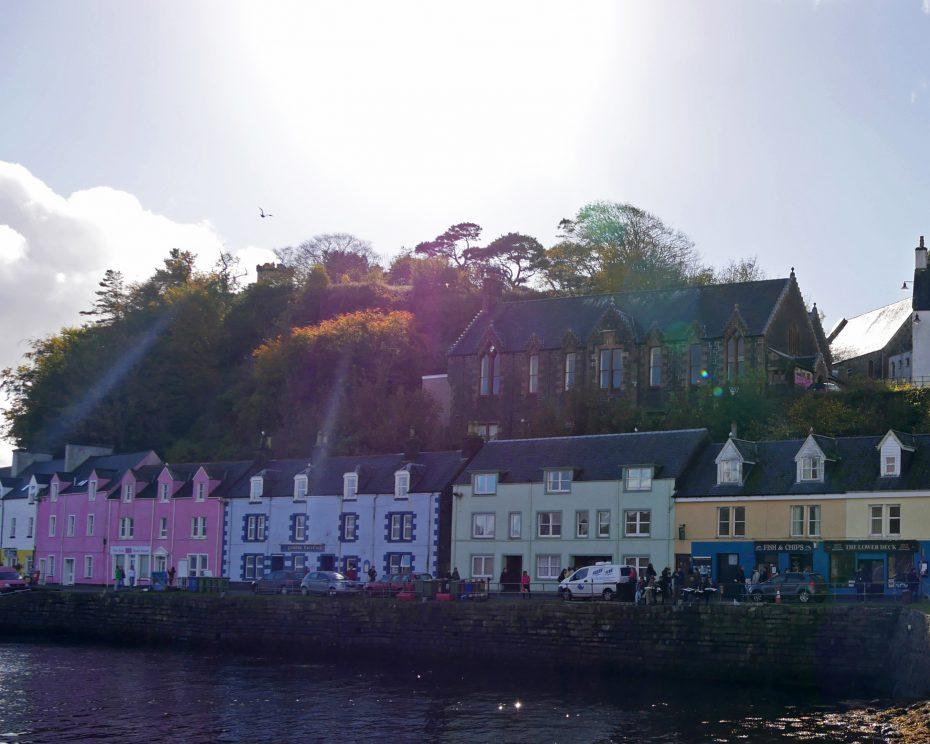 Kleurrijke huisjes in Portree