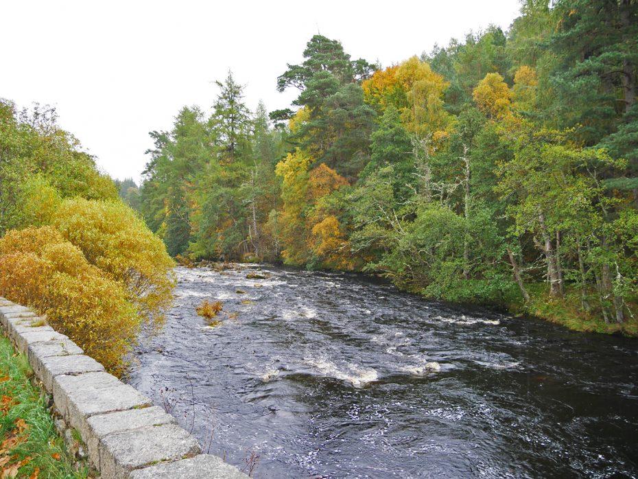 Rivier in de buurt van Nationaal park Cairngorms