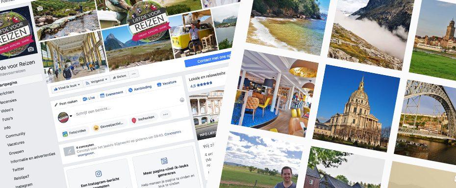 Liefde voor Reizen op social media