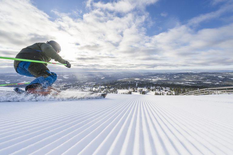 Wintersporten in Trysil, Noorwegen
