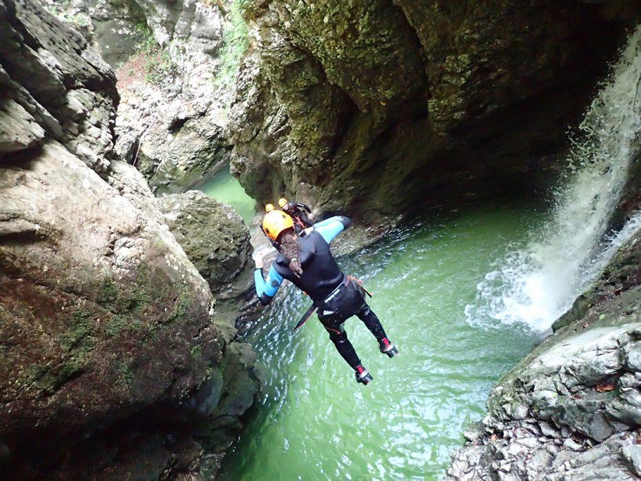 Canyoning, Bled, Slovenië