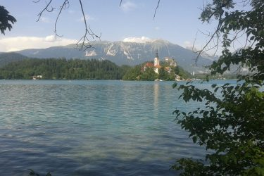 Het meer van Bled, Slovenië