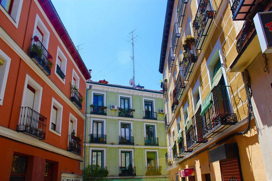Kleurrijke straatjes in Madrid