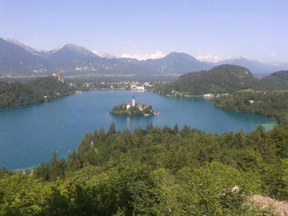 Prachtige uitzichten, Bled, Slovenië