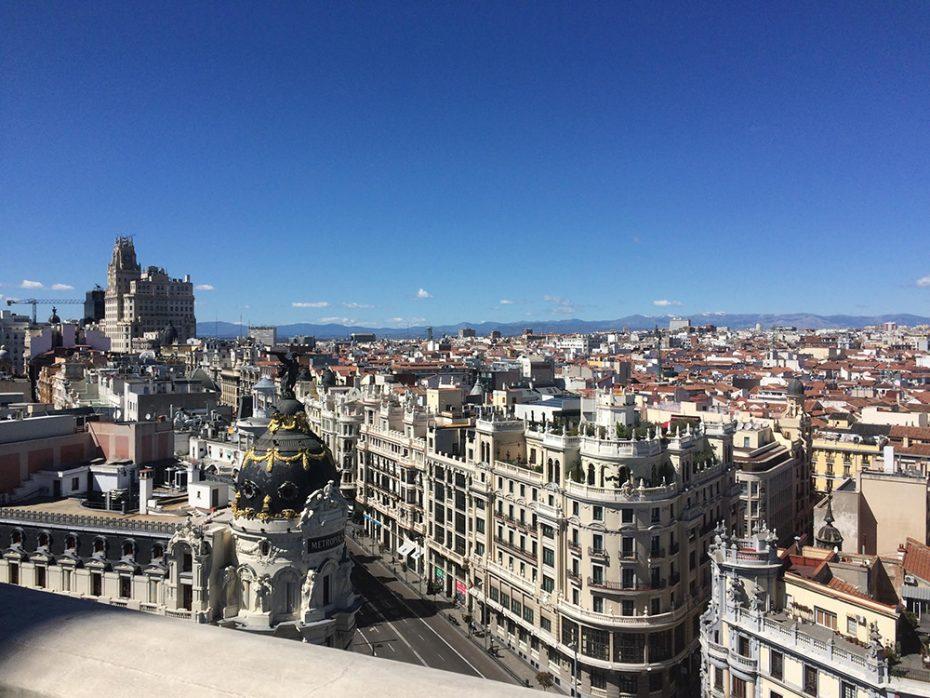 Uitzicht op de stad Madrid