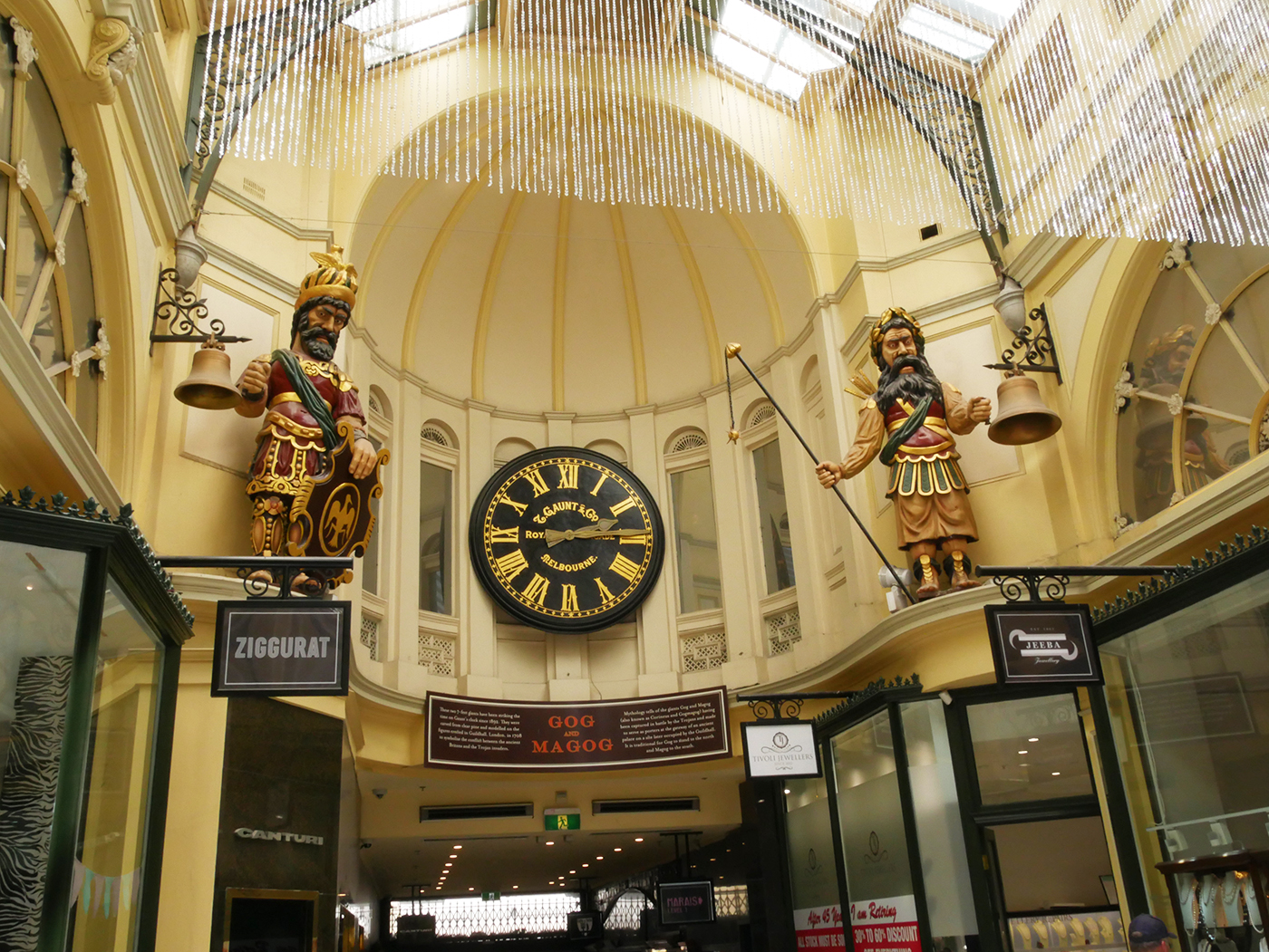 Gog and Magog, Royal Arcade