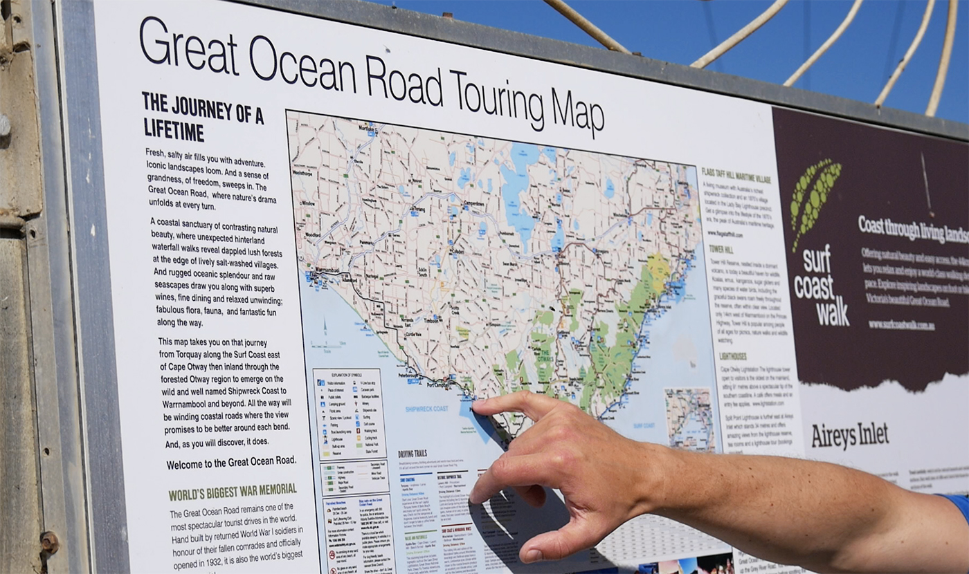 Great Ocean Road touring map