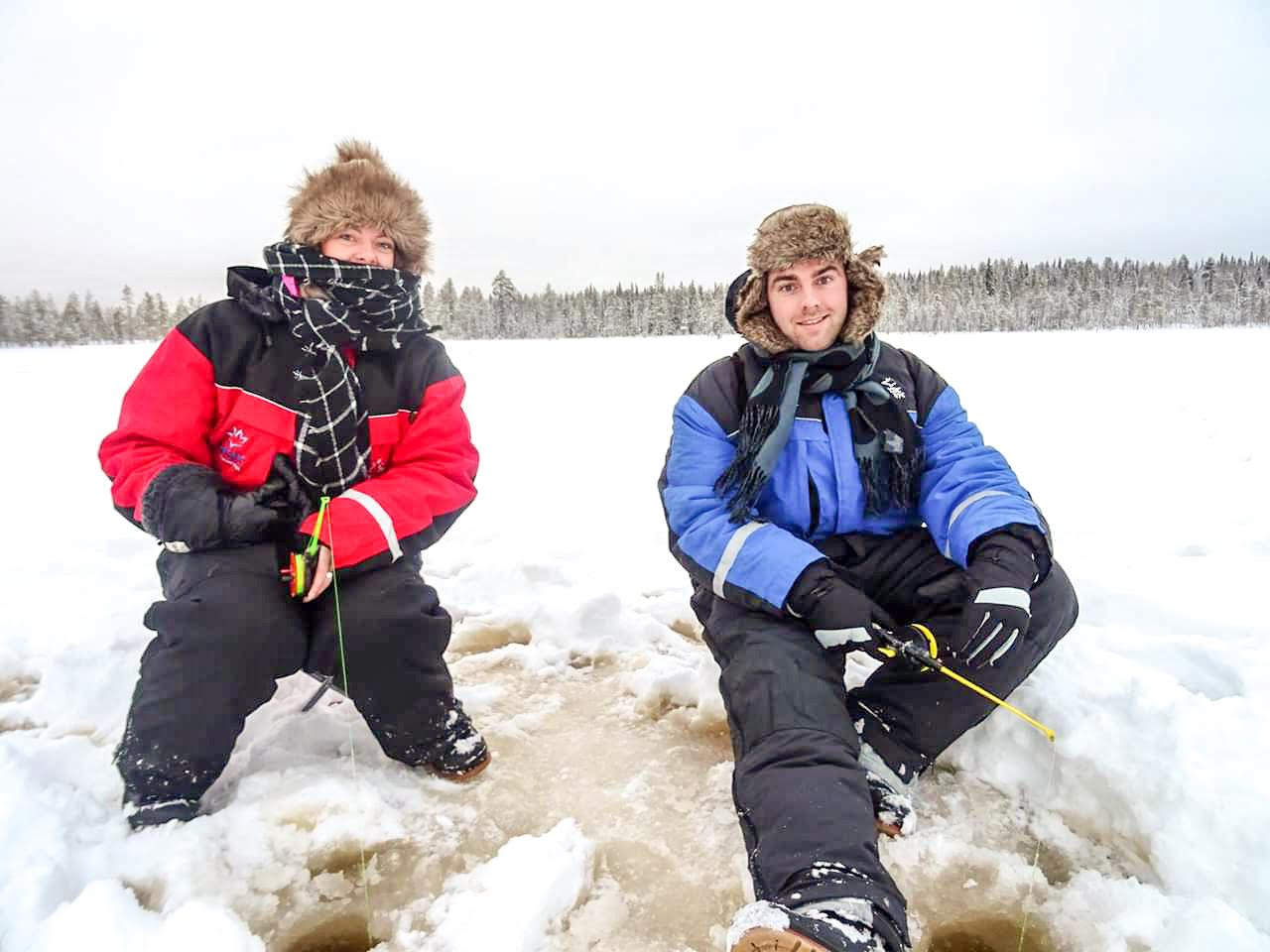 Ice fishing in Lapland