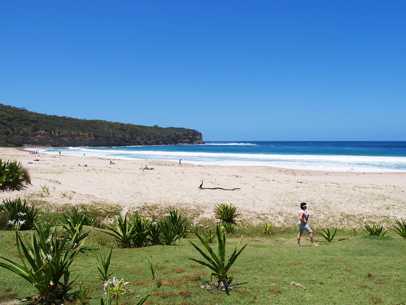 Pebbly Beach in Australië, een paradijselijk plekje