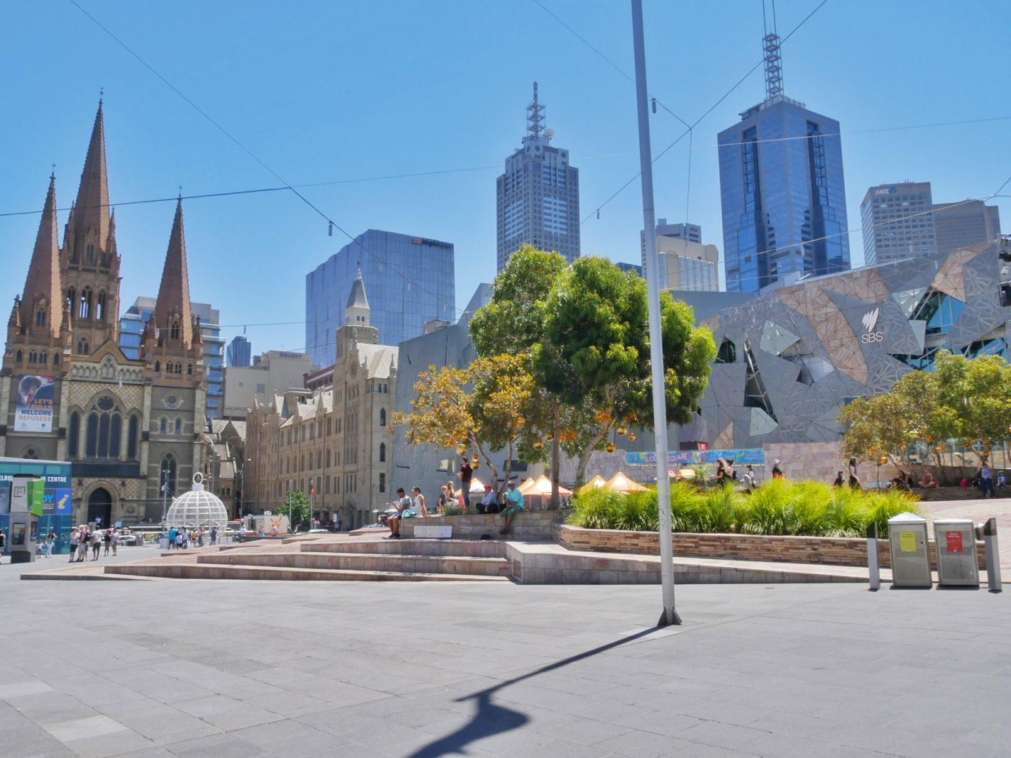 In Melbourne kan het aardig fris zijn in de winter