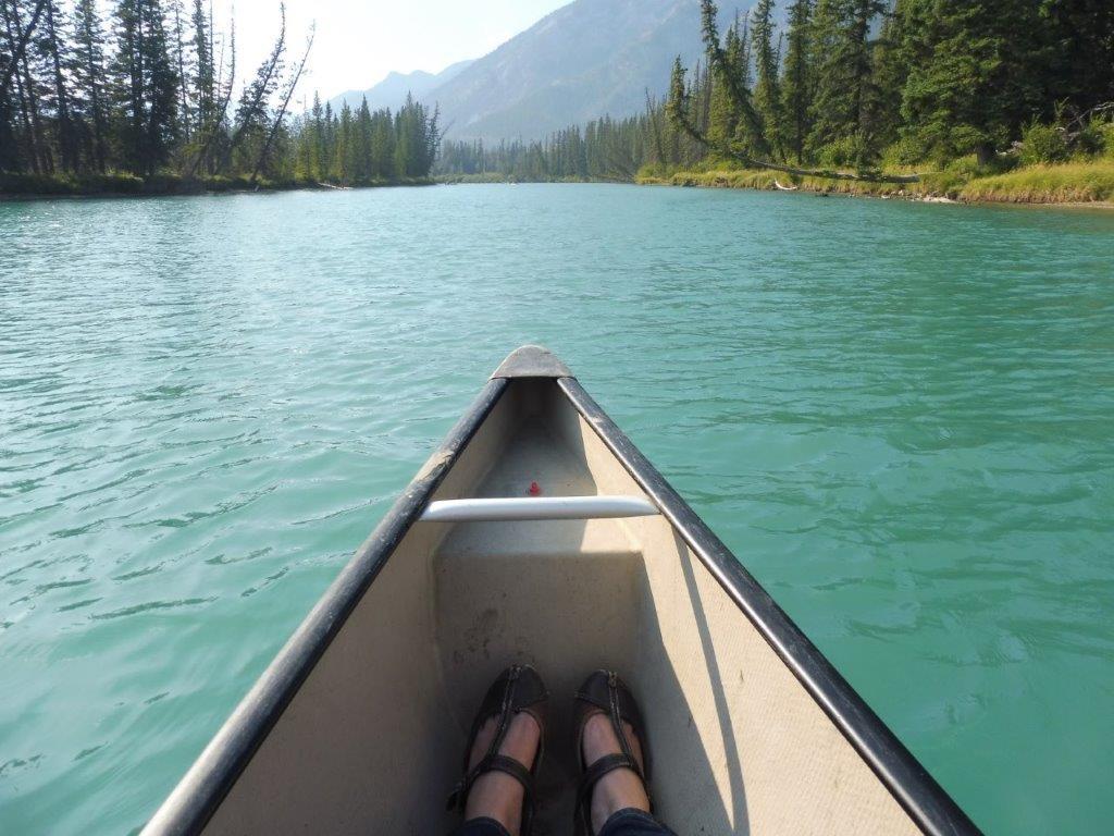 Een aanrader, kanoën op de Bow River