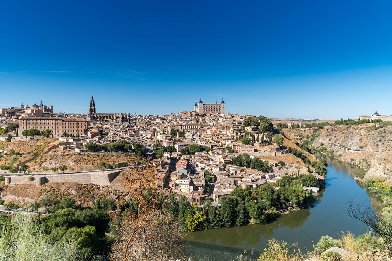Panoramisch uitzicht op Toledo