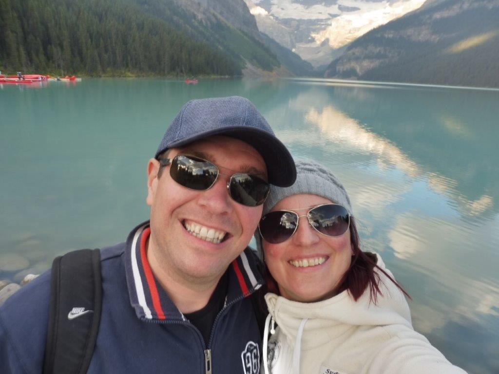 Selfie bij Lake Louise!