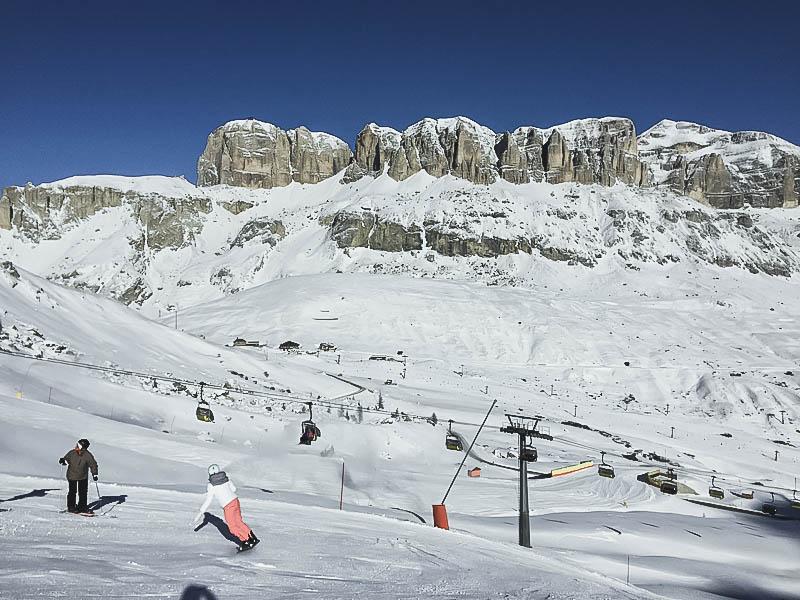 Skiën en snowboarden in Canazei, Val di Fassa