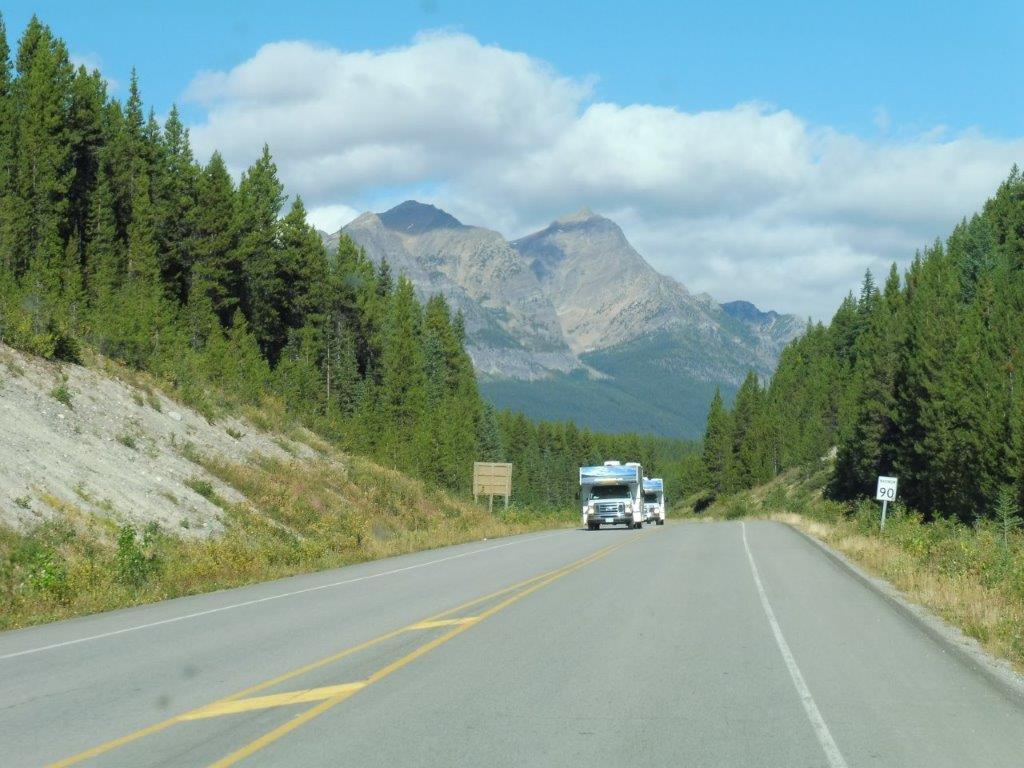 Mooie camperroute, tussen Banff en Jasper