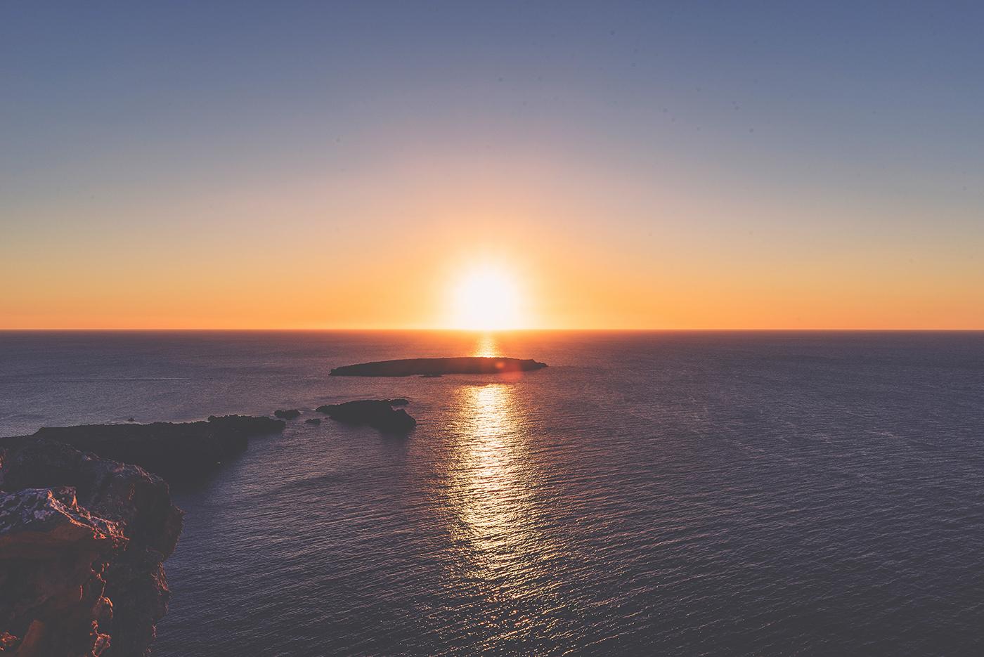 Mooie zonsondergang op Menorca