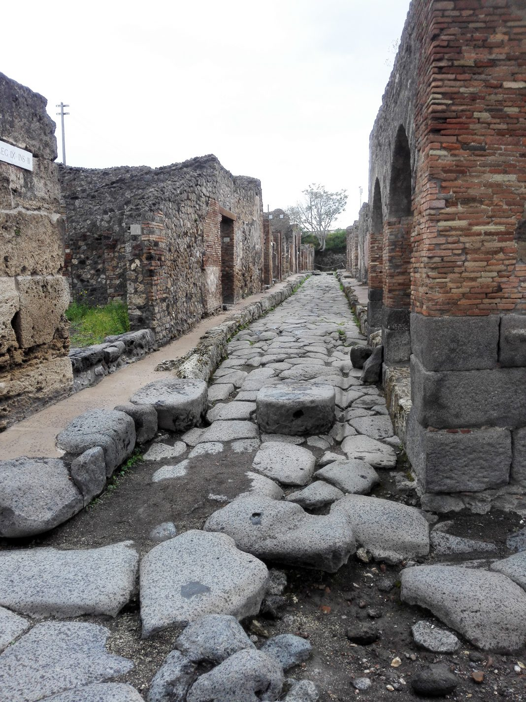Het stadje Pompeii