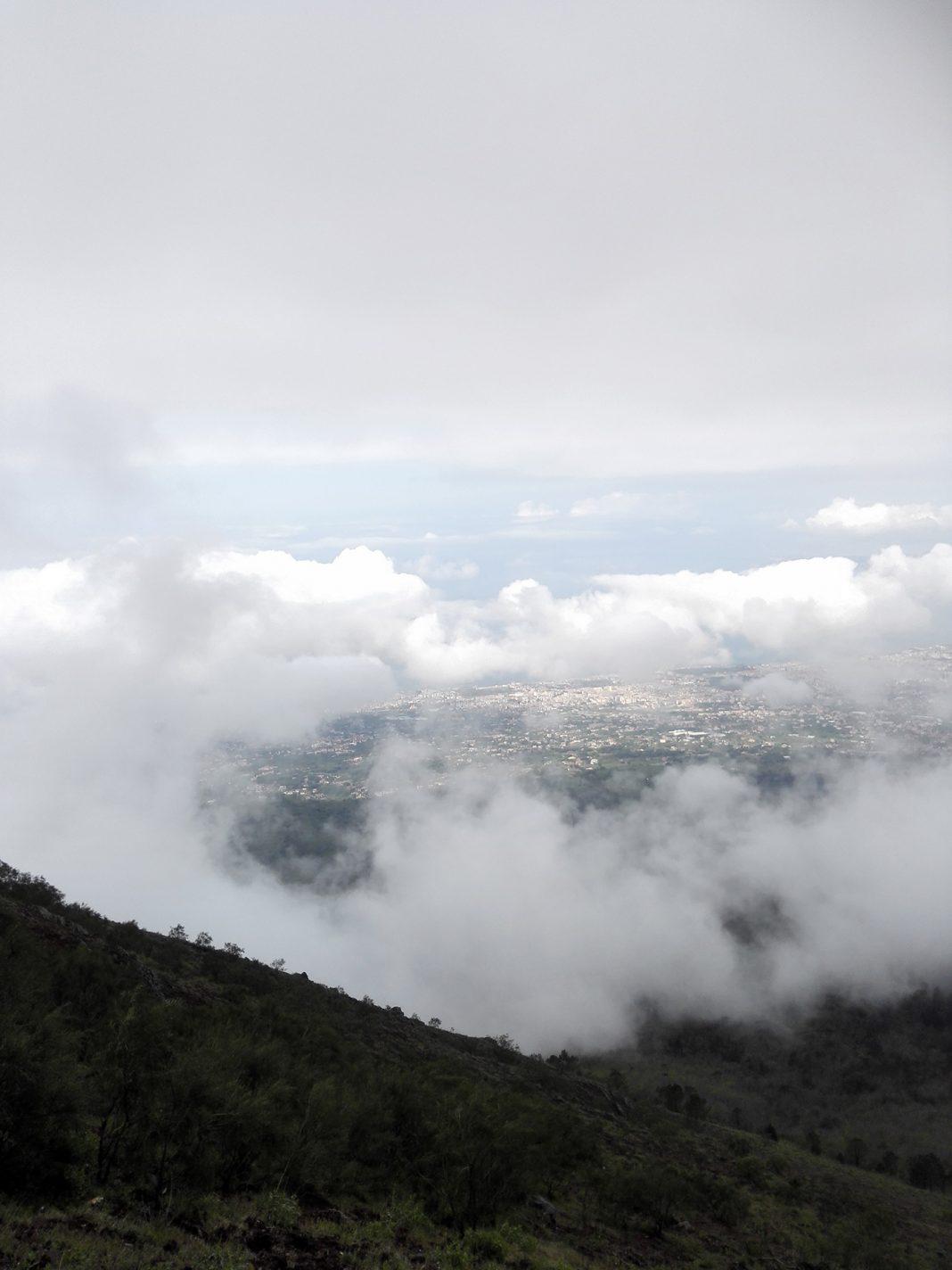 Prachtig uitzicht vanaf de Vesuvius