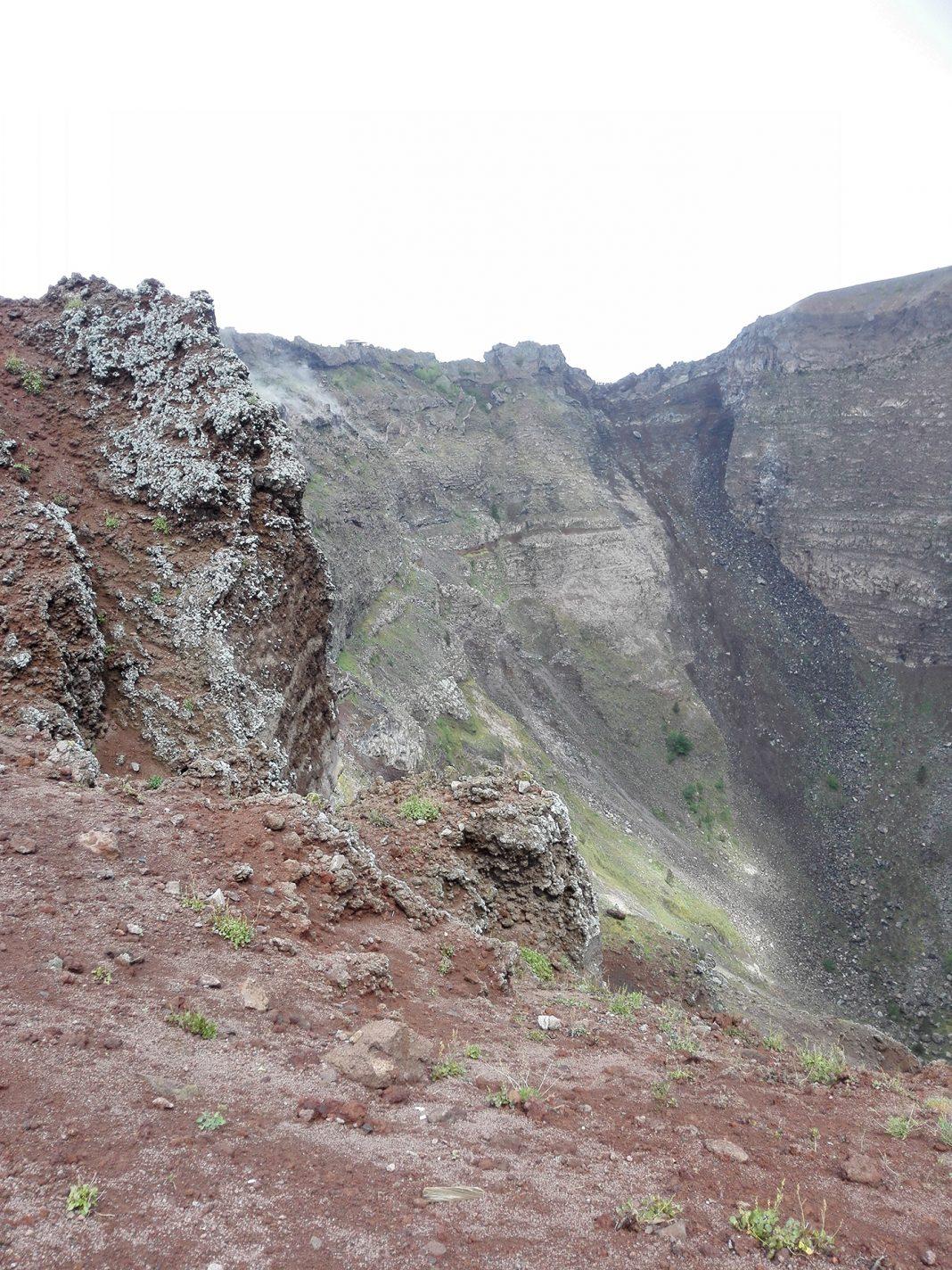Kijkend in de Vesuvius