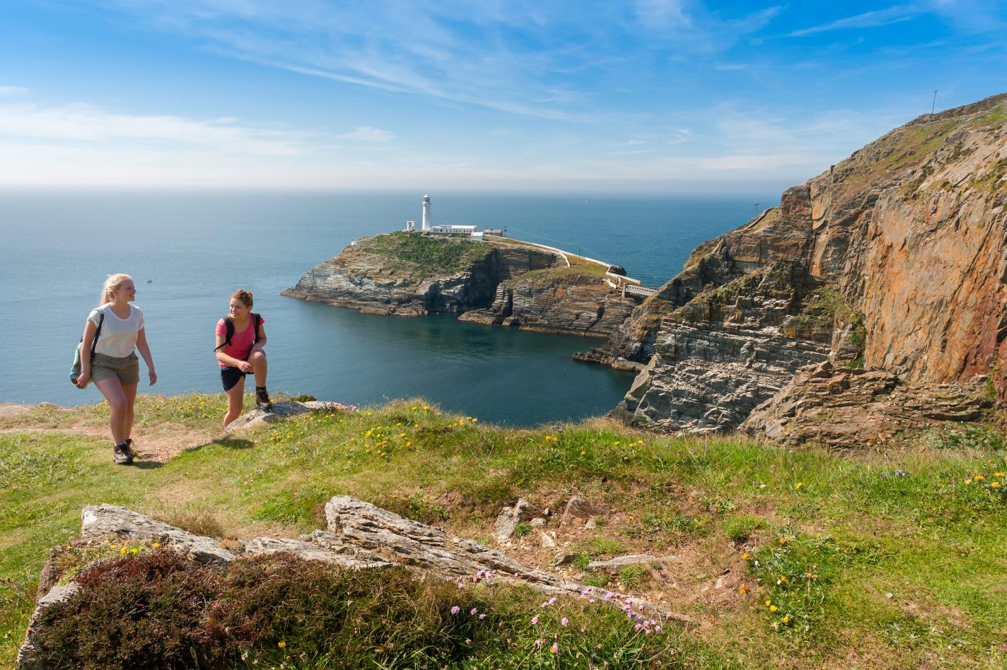 South Stack Lighthouse in de buurt van Holyhead
