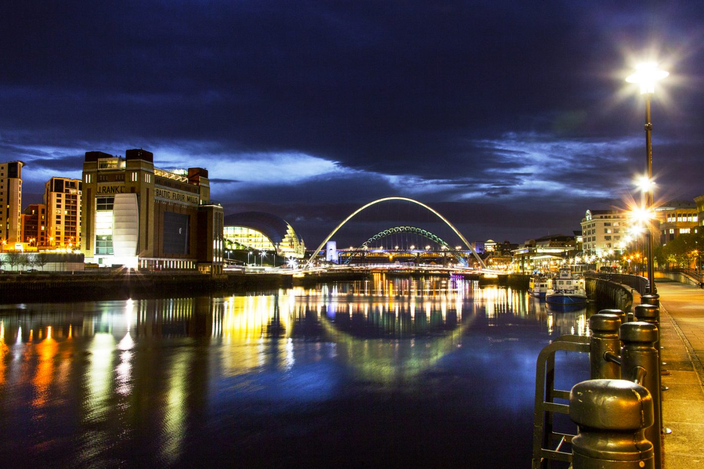 Newcastle by night