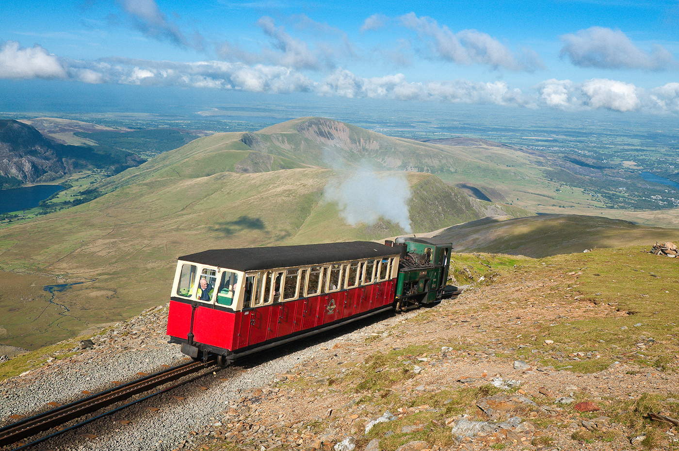 Met het treintje naar de toppen van Mount Snowdon