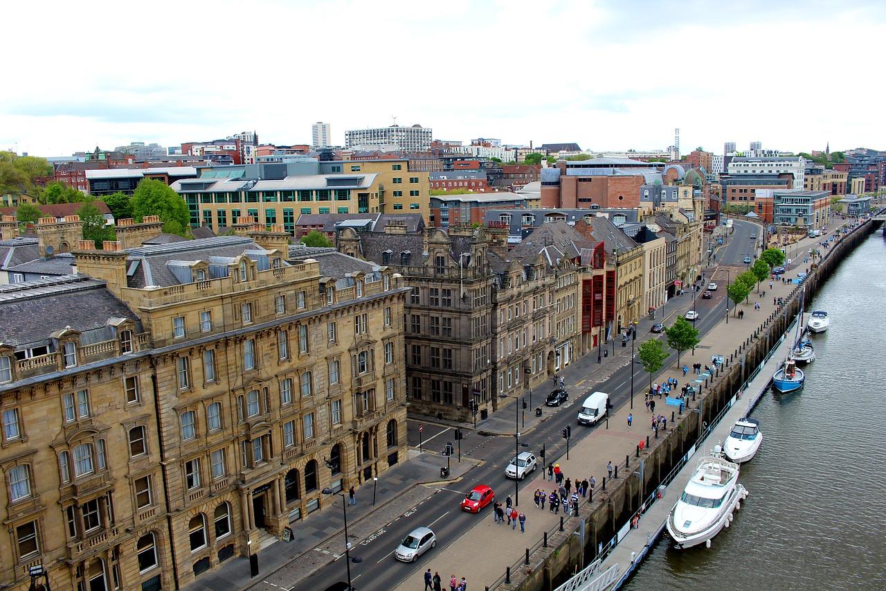 Mooie oude (Engelse) gebouwen in Newcastle