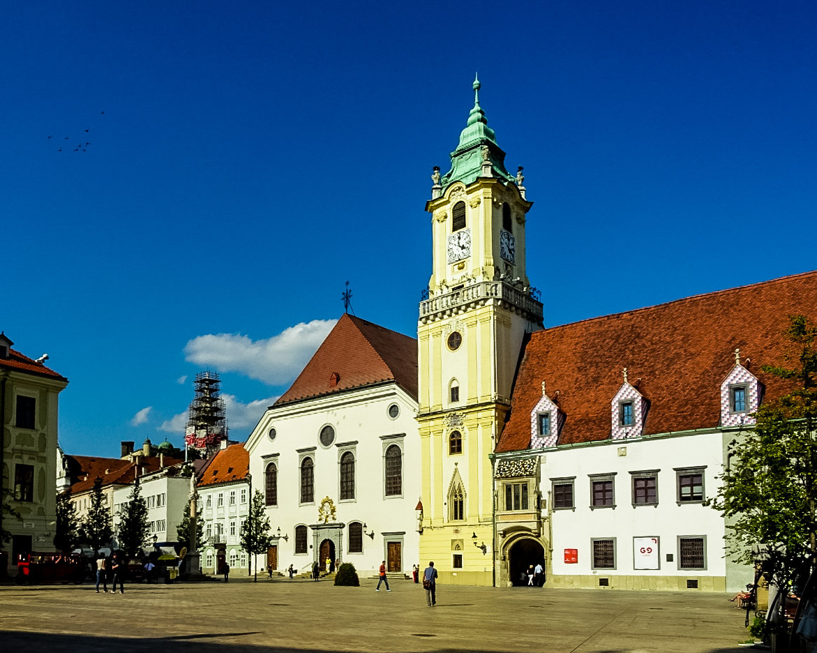 Het centrale plein - bezienswaardigheden Bratislava