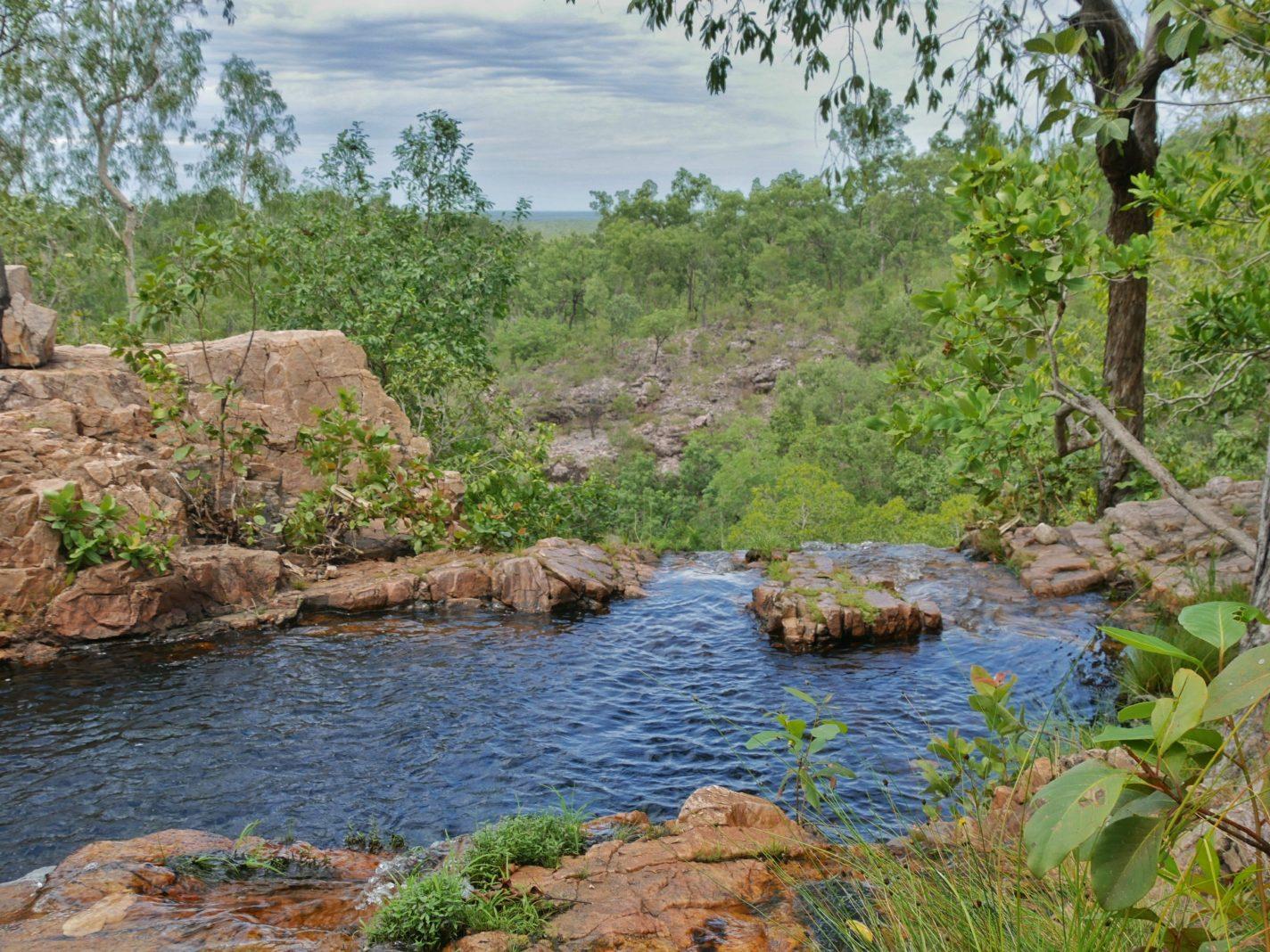 Tjaetaba Falls plunge pool
