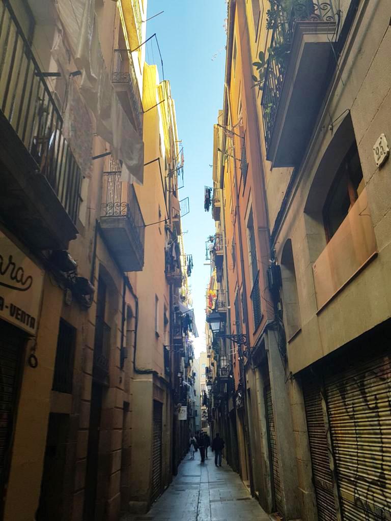 Smal straatje van de wijk El Born