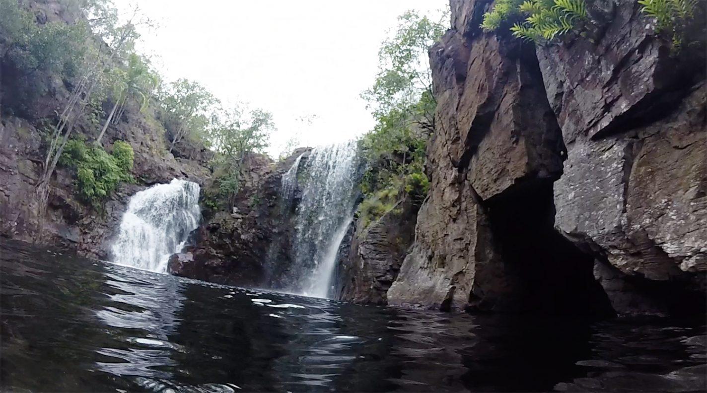 Zwemmen bij de Florence Falls - Litchfield National Park