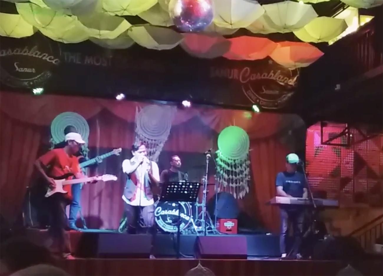 Optreden van een bandje in Sanur