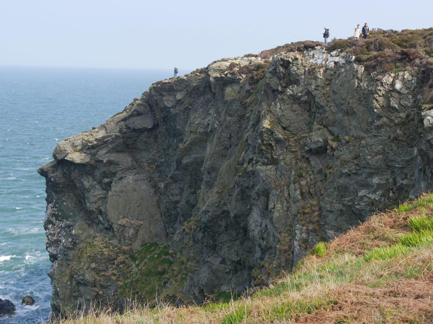 Hoge cliffen Howth Ierland