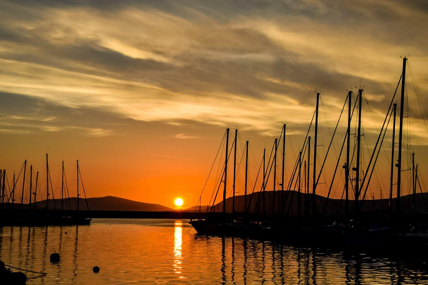 Zonsondergang bij Alghero op Sardinie