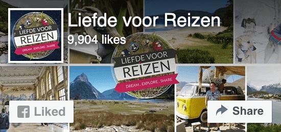 Volg Liefde voor Reizen op Facebook