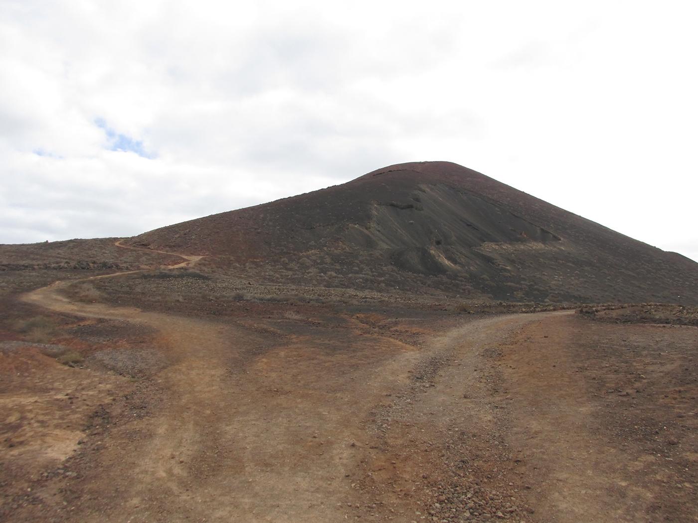 Vulkanisch landschap op Fuerteventura