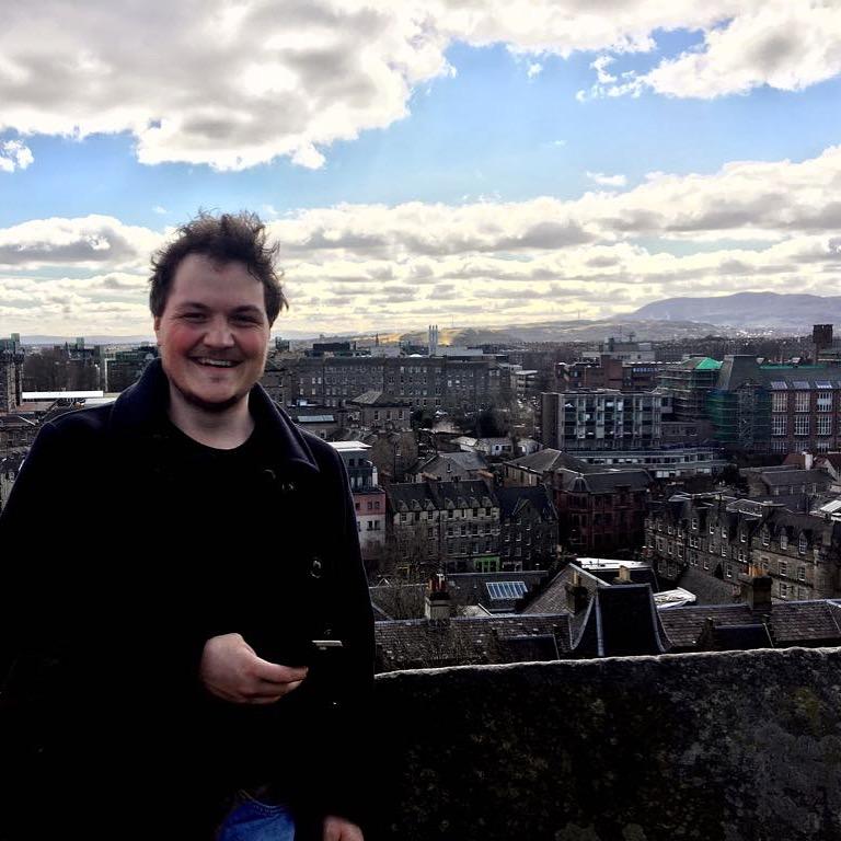 Jasper Leijdens in het Schotse Edinburgh