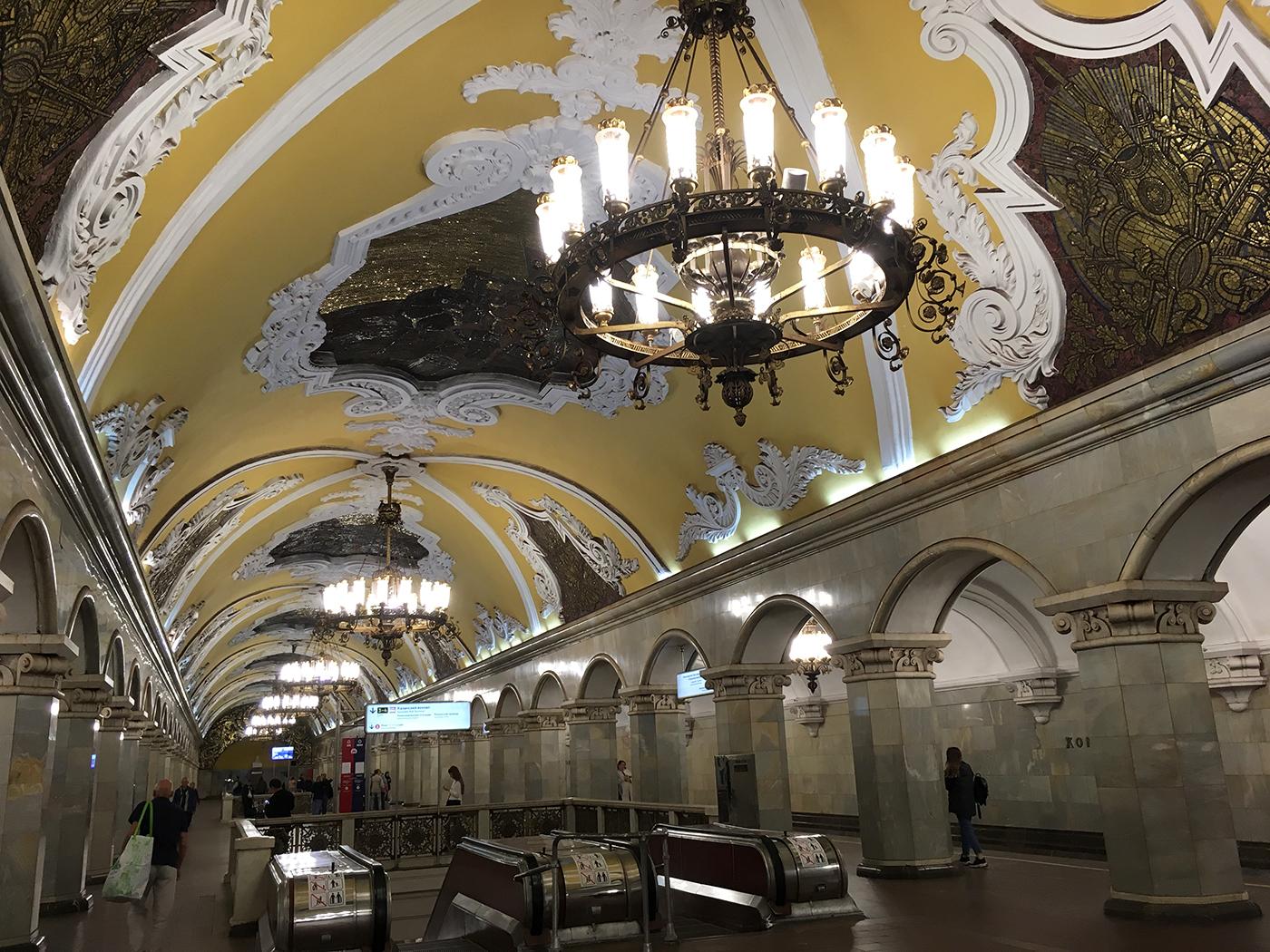 een metro station - bezienswaardigheden stedentrip Moskou