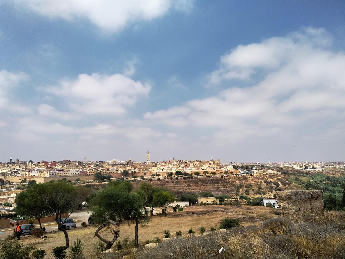 Uitzicht op Meknes