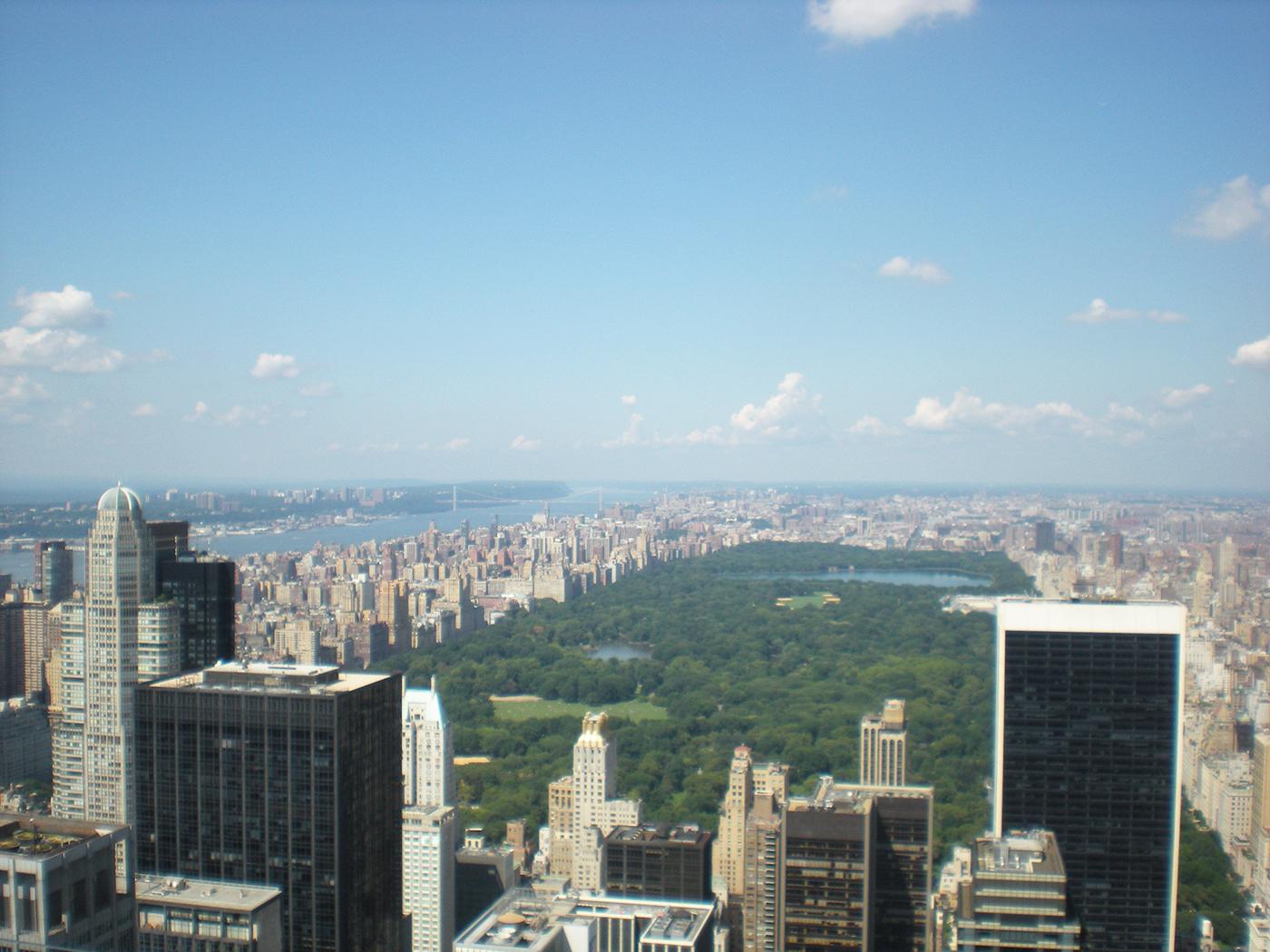 Mooi uitzicht over Central Park vanaf Rockefeller Center