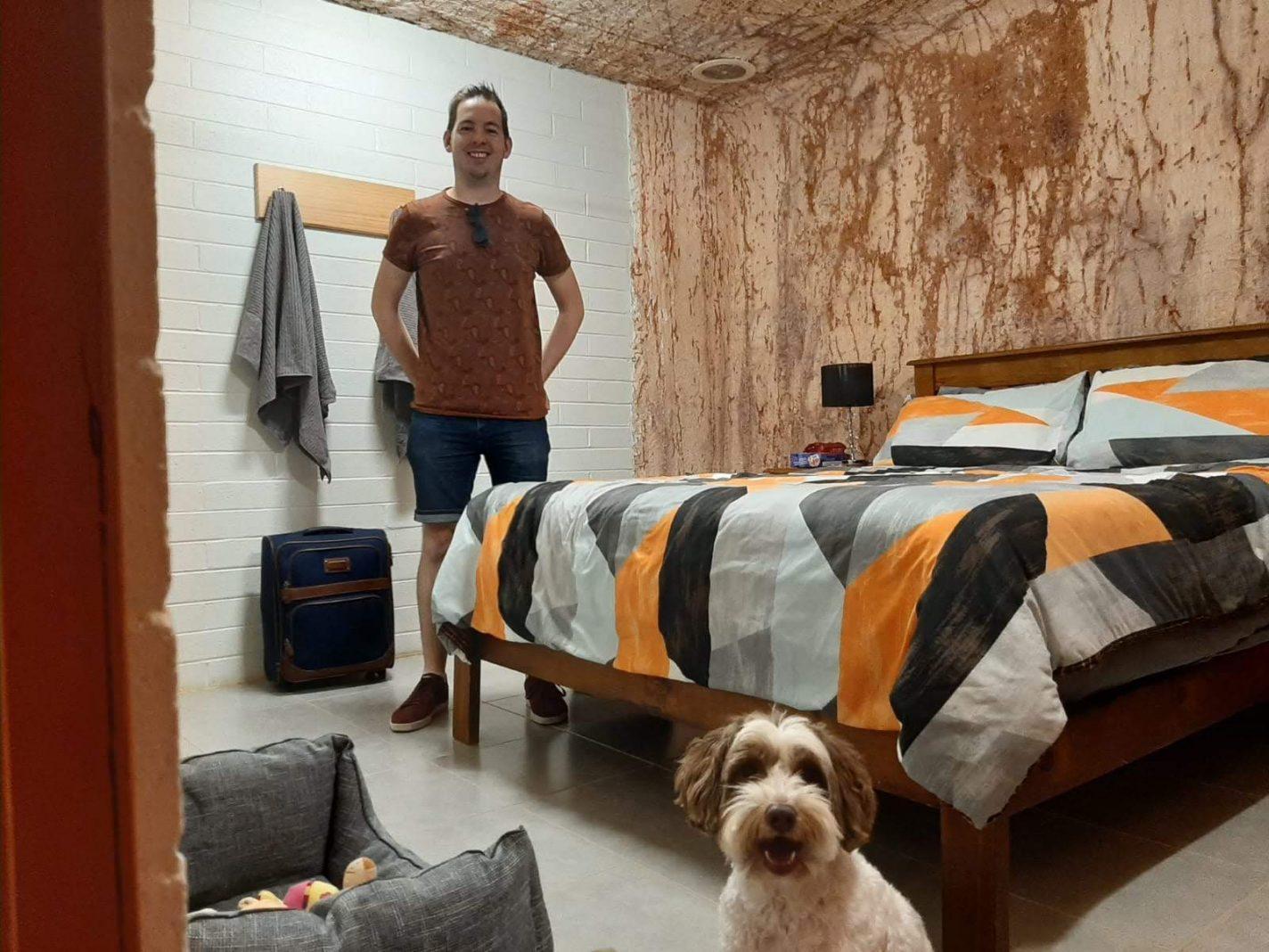 Hondvriendelijke slaapplek in Cooper Pedy - emigreren naar Australië met een hond