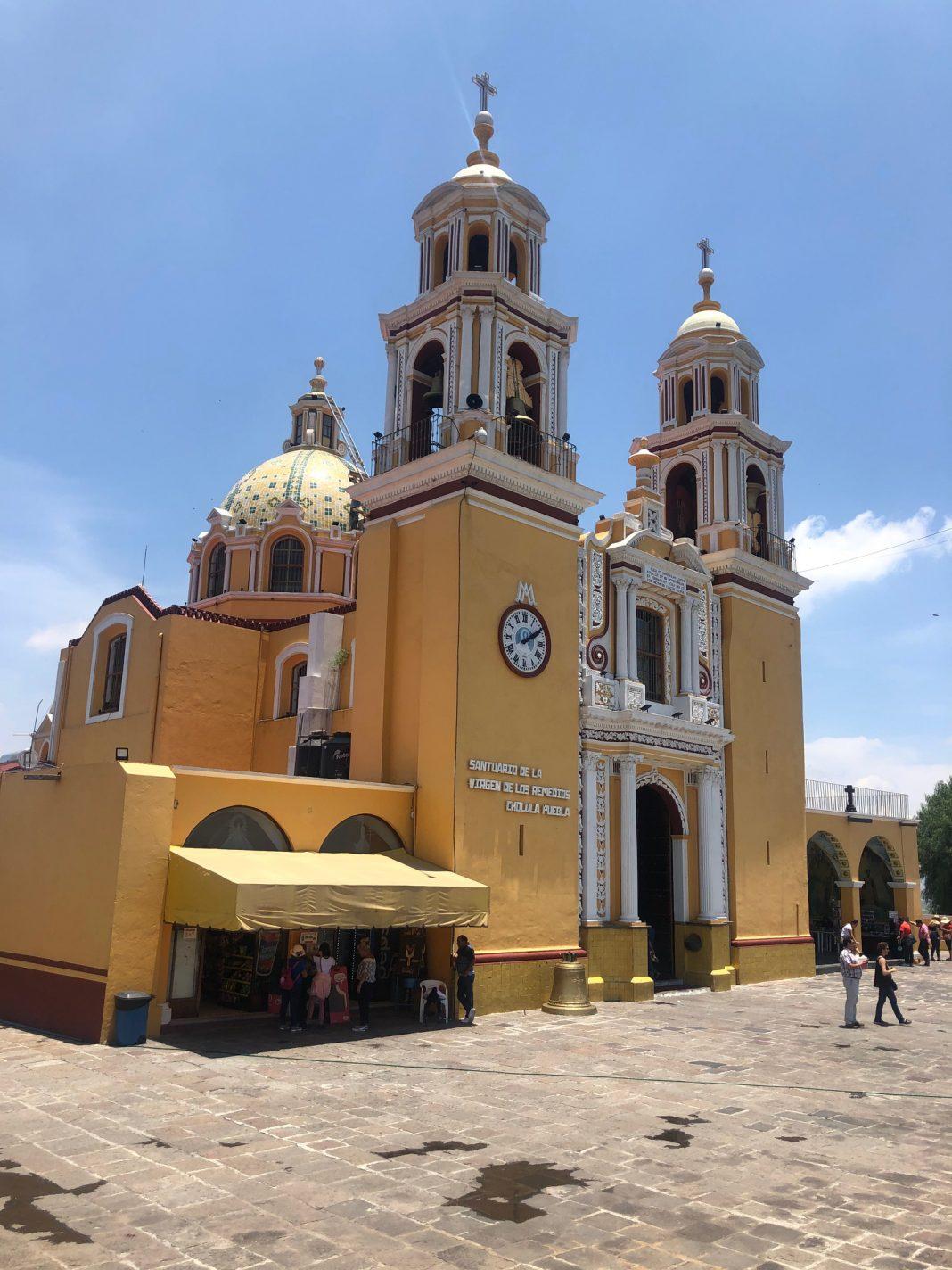 Mooie kerk in Puebla