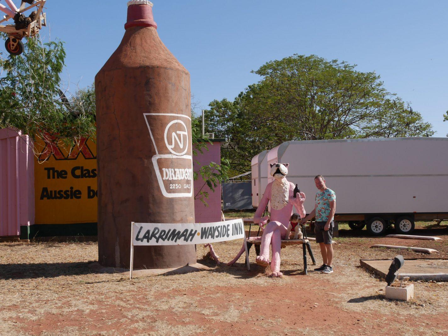 Tussenstop in Larrimah - emigreren naar Australië met een hond