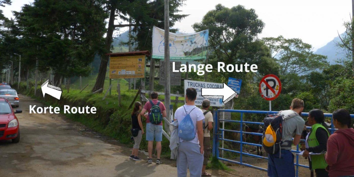 Ga je voor de lange of korte route?