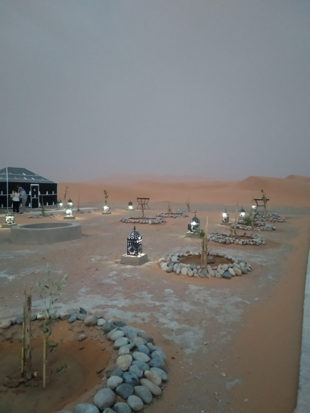 Ons tentenkamp in de Sahara