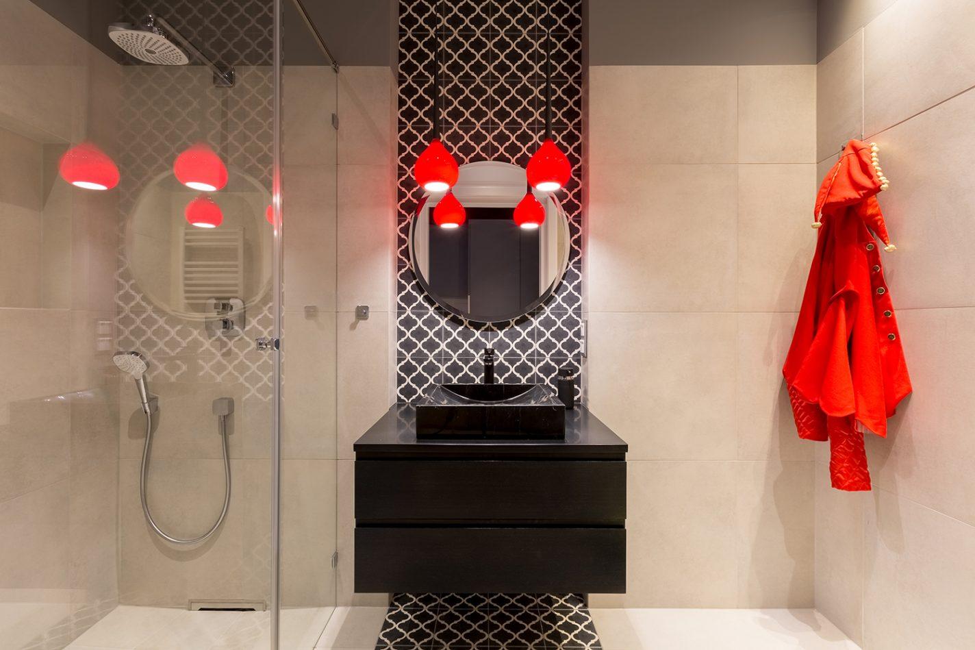 De badkamer, ook helemaal in style