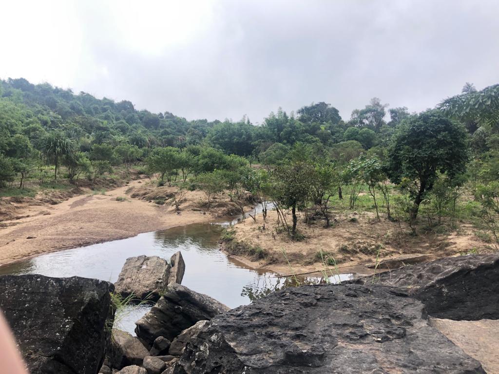 De omgeving bij de pas ontdekte waterval - Noordoost India