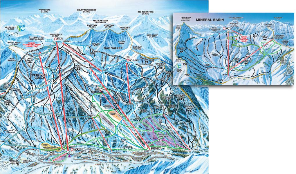 Verschillende pistes, voor elk niveau wat wils - wintersport in Utah